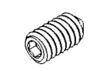 CONE PT SETS SCREW 1/4-20X1/2 BLK