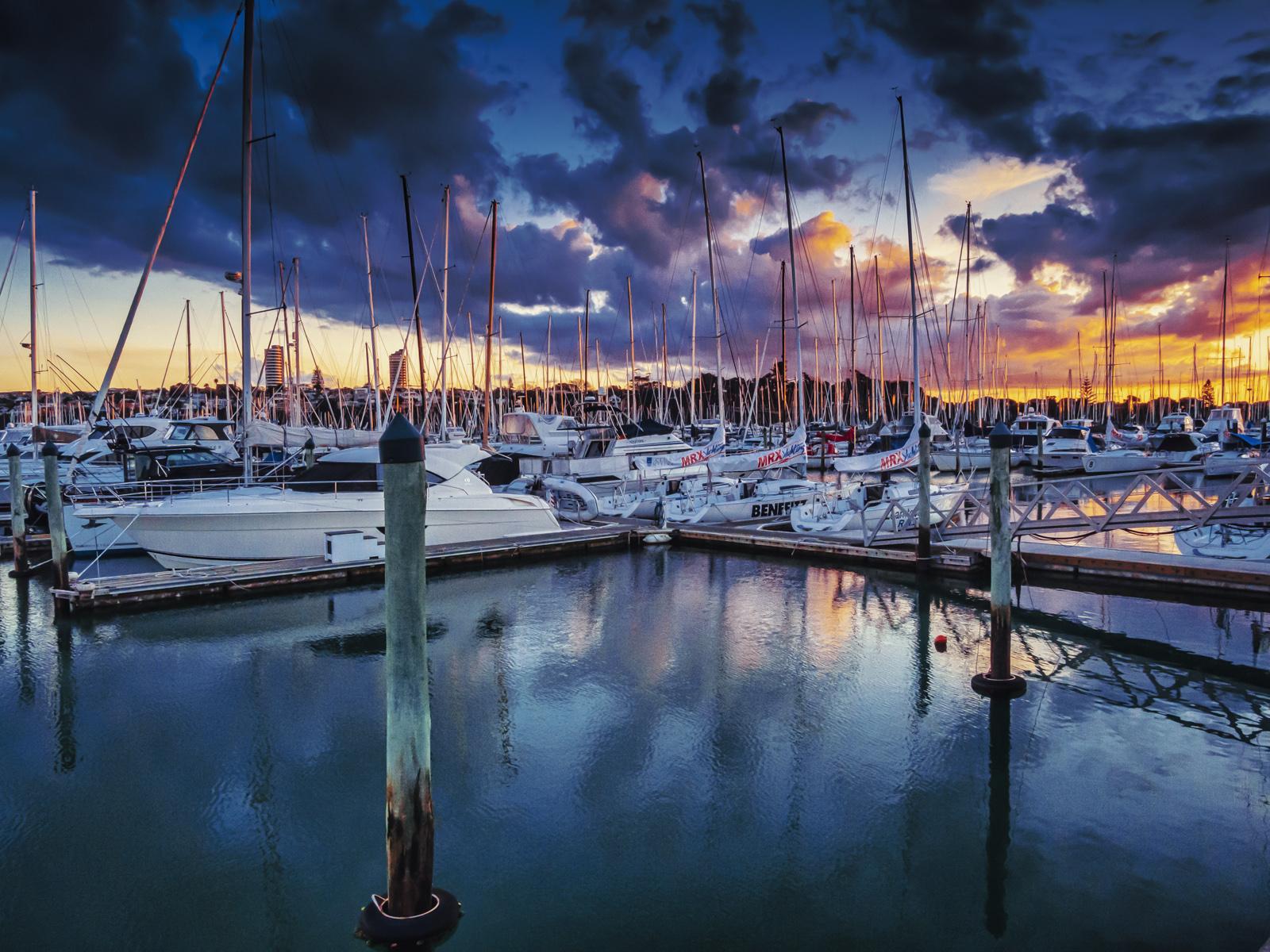 2. westhaven marina sunset.ken waller