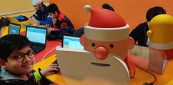 One Happy CodeTiger with Santa