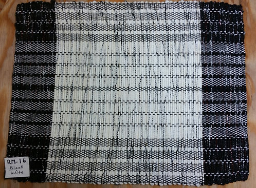 Black and White rectangular placemat