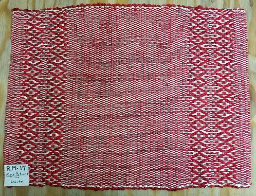 Red Pattern on White rectangular placemat