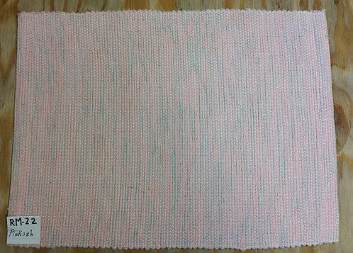 Pinkish rectangular placemat