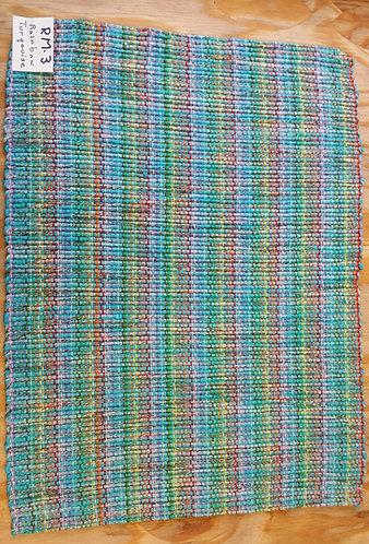 Rainbow Turquoise rectangular placemat