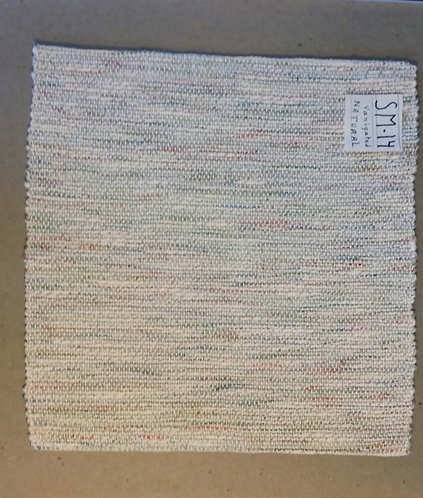 Neutral variegated square placemat