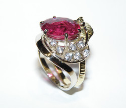 Anello rubino e diamanti