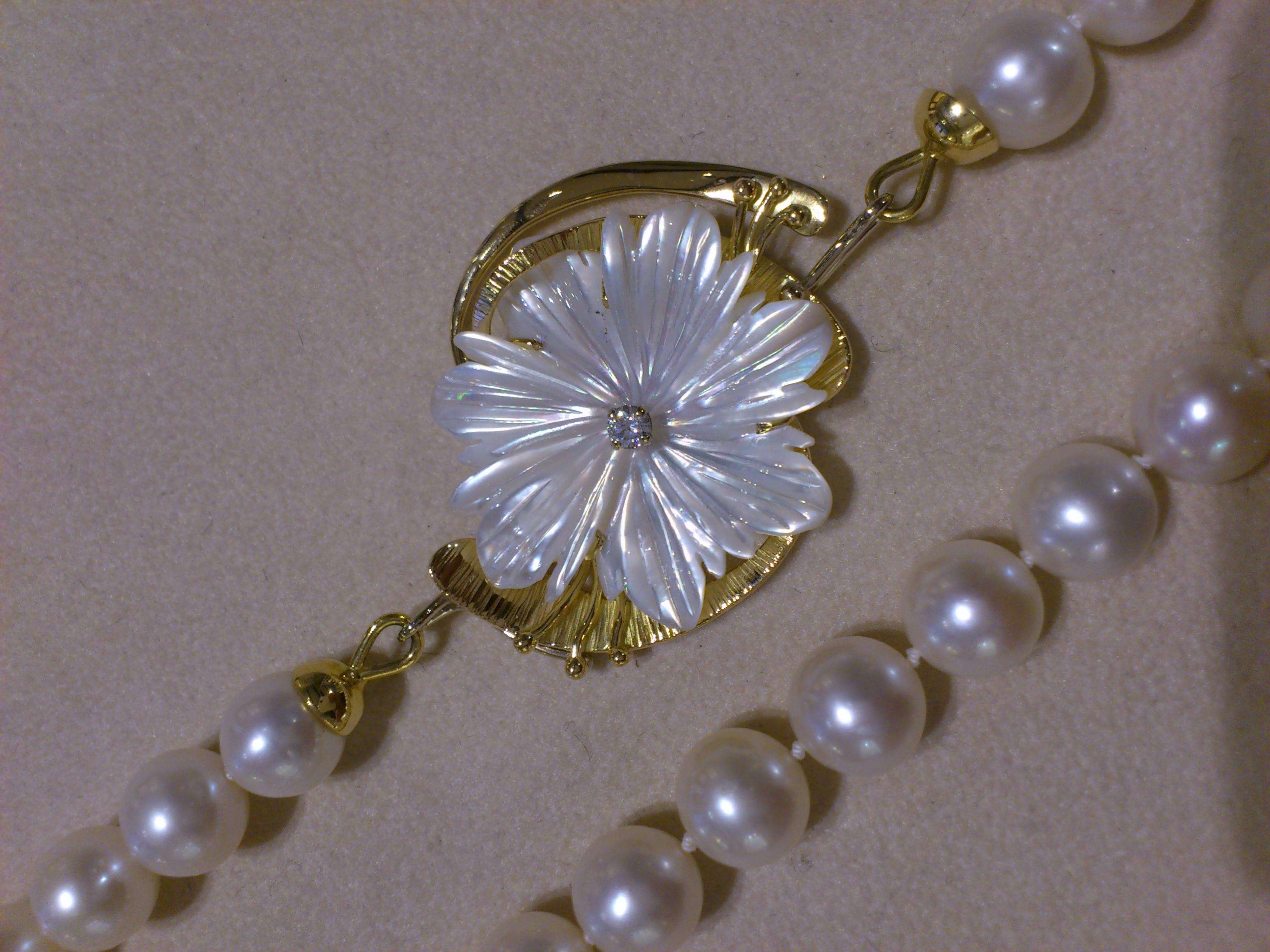 Chiusura collana di Perle