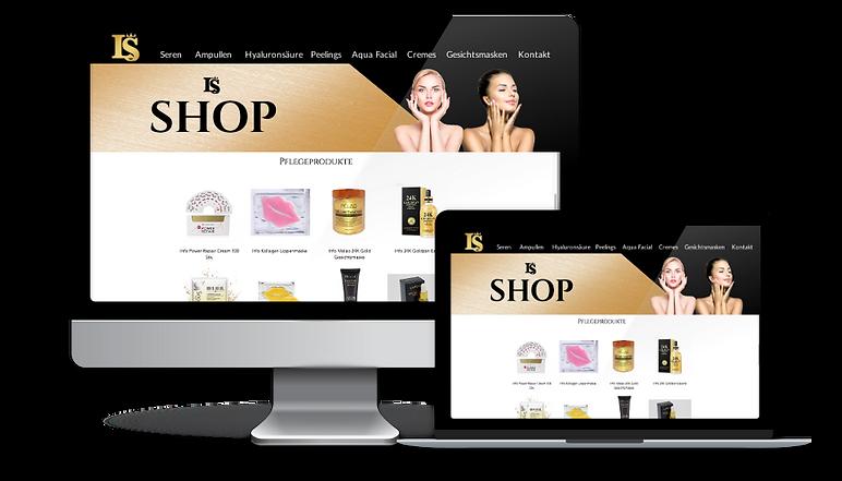 Onlineshop für Kosmetikstudio