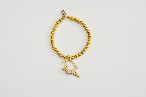 Gold Sparkly Lightning Bolt Bracelet