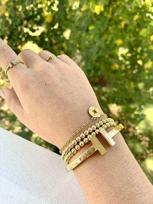 Chain & Compass Bracelet