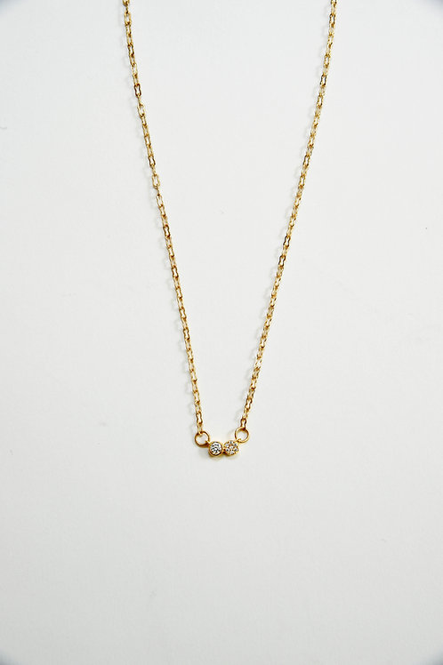 Gold Sparkly Figure Eight Necklace