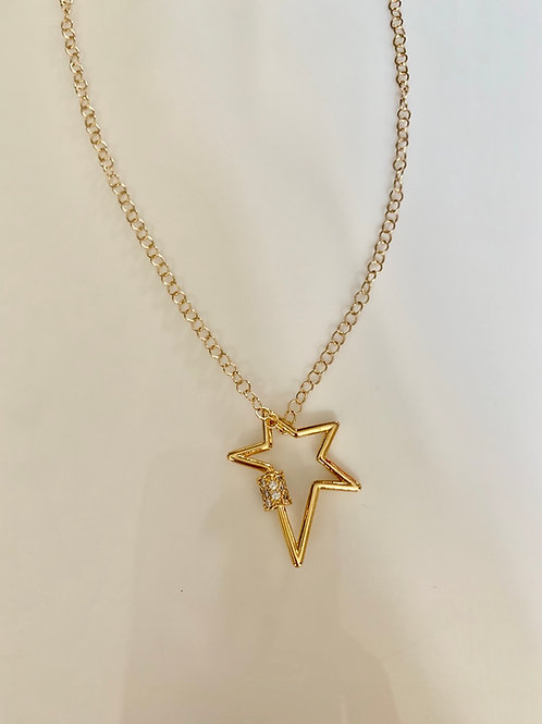 Gold Sparkly Star Necklace