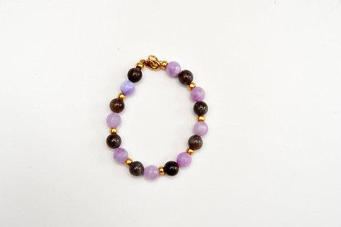 Black & Purple Beaded Bracelet