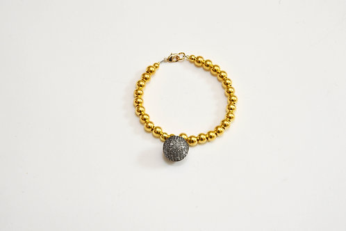 Gold Sparkly Ball Bracelet