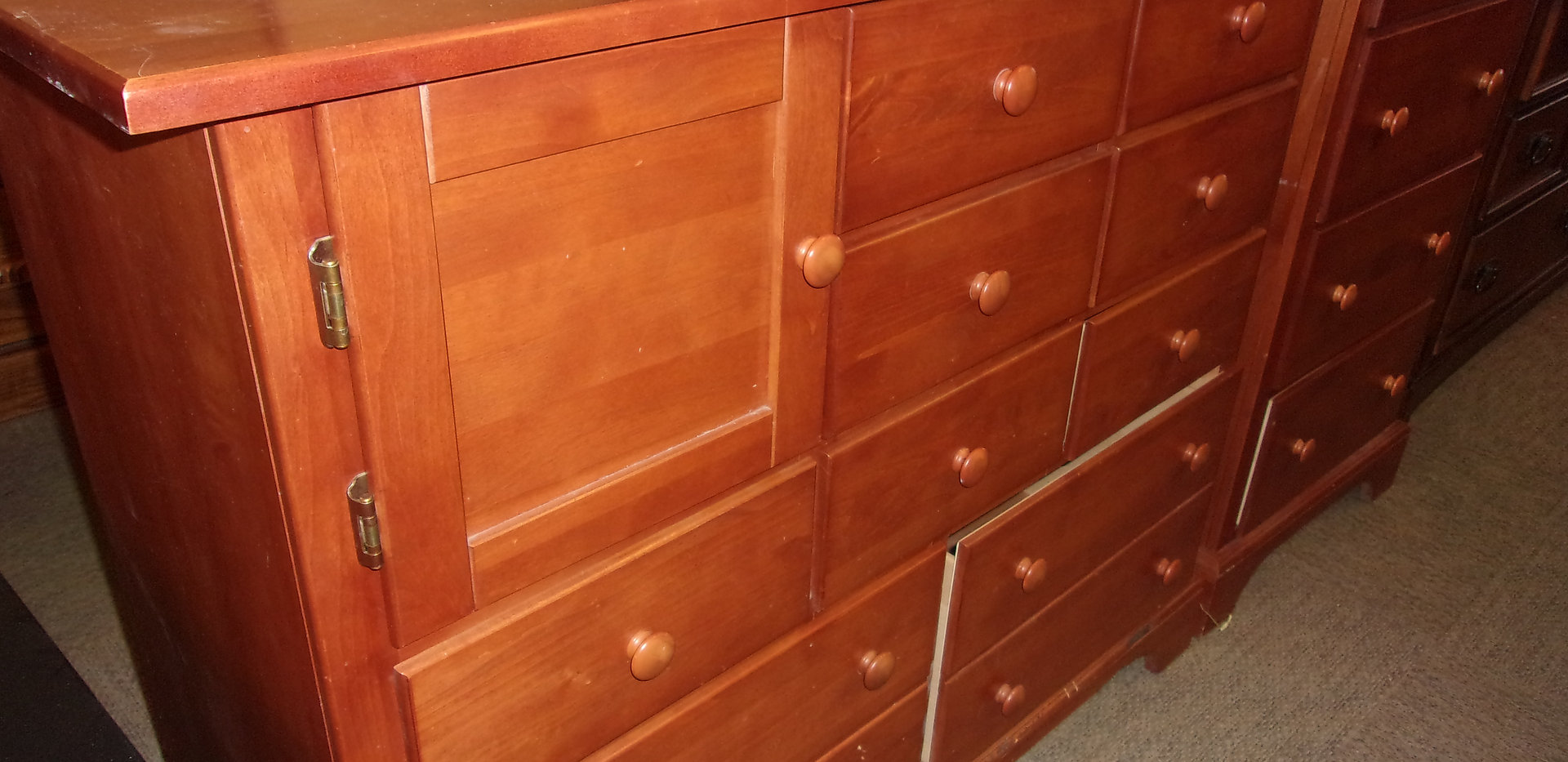 Matches Tall Boy Chest of Drawers