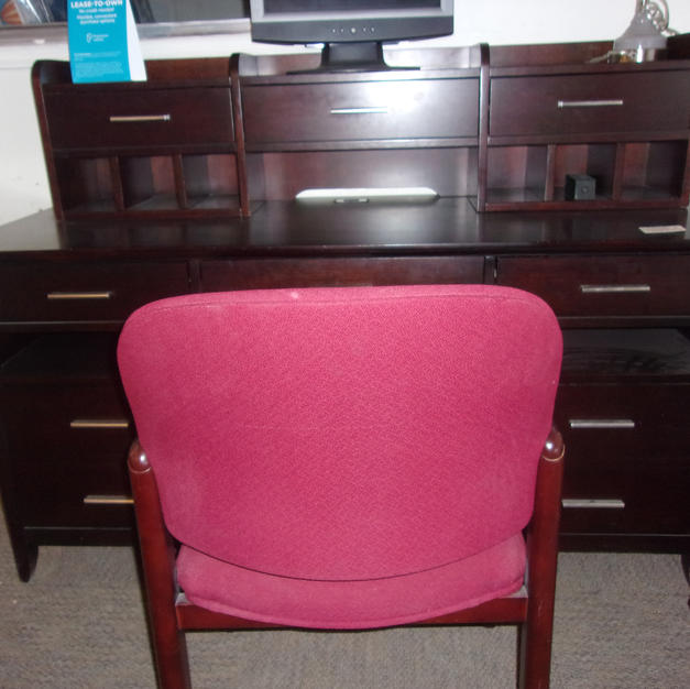 Desk with Hutch Charging Station