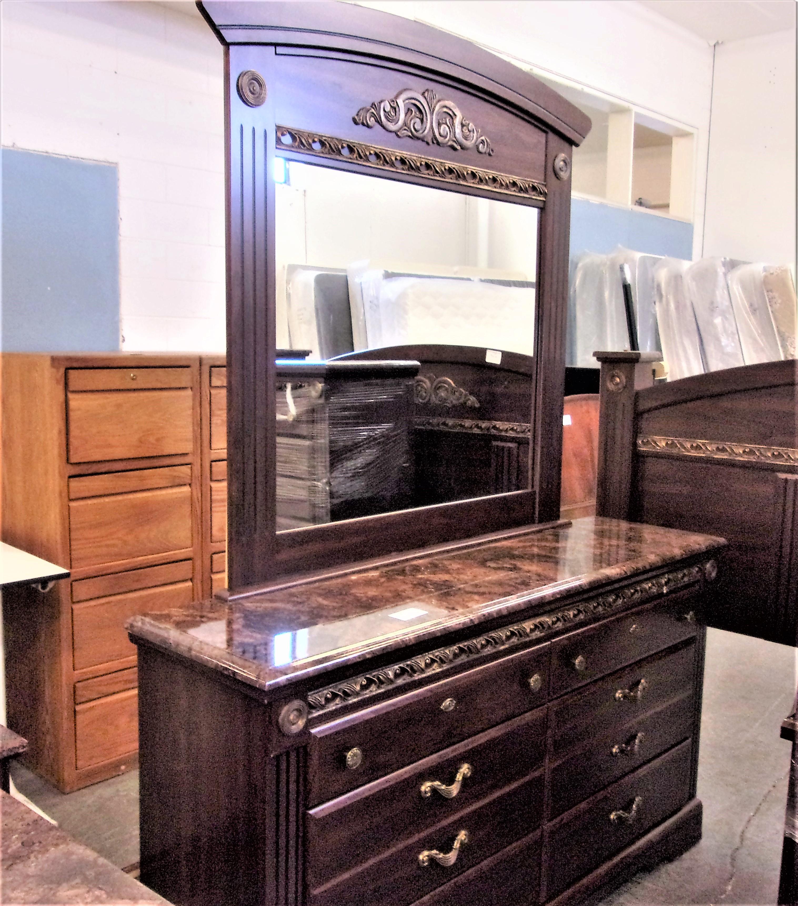 """Dresser with Mirror- 7'2"""" x 65"""""""