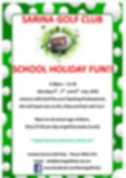 JUNIOR GOLF SCHOOL  HOLS JULY 2020.jpg