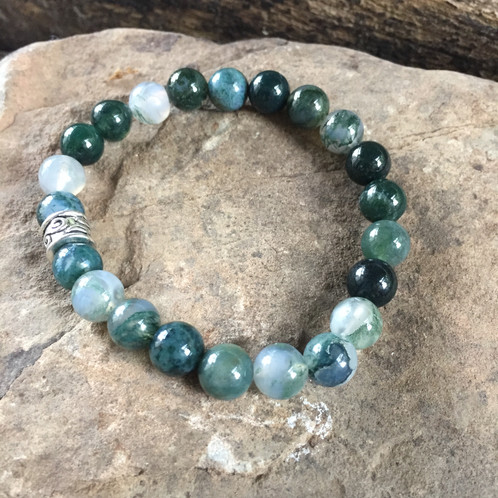 healing to moss weather agate crystal fengshui reduces vastu abundance stone sensitivity reiki of bracelet