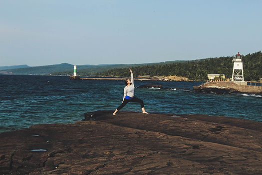 JensonYoga at Lake Superior