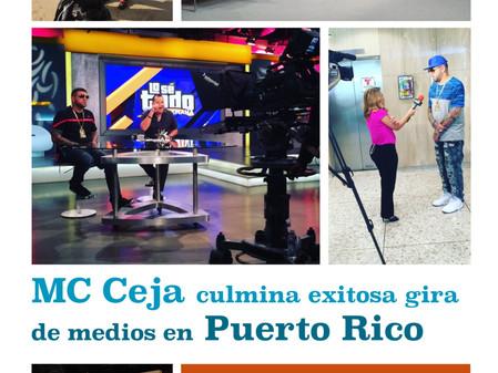 MC Ceja Culmina Exitosa Gira De Medios En Puerto Rico