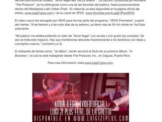 "Lui-G 21+ revela el vídeo musical de ""Amor Ilegal"" junto a De La Ghetto"
