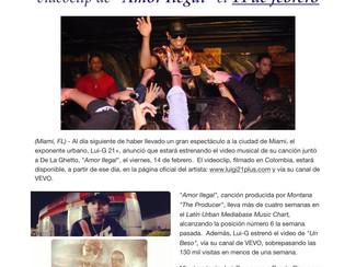 """Lui-G 21+ se prepara para revelar el videoclip de """"Amor Ilegal"""" el 14 de febrero"""