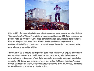 MC Ceja regresa a su pueblo natal a filmar el video su tema nuevo