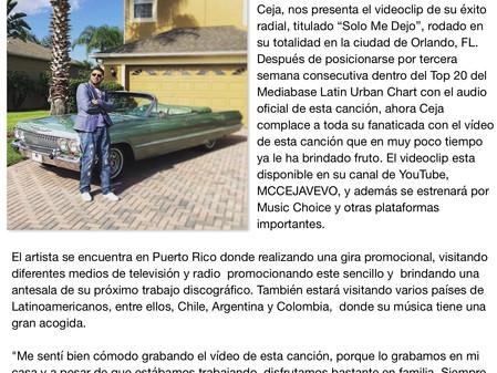 """MC Ceja presenta el videoclip De """"Solo Me Dejo"""""""