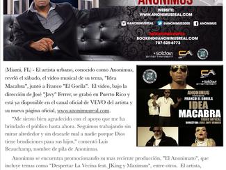 "Anonimus estrena video juntó a Franco ""El Gorila"""