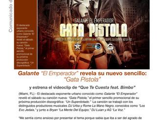 """Galante """"El Emperador"""" revela su nuevo sencillo: """"Gata Pistola"""""""