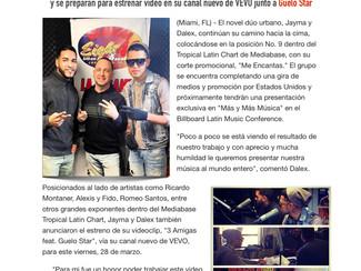 """Jayma y Dalex se posicionan en en el Top 10 del Mediabase Tropical Latin Chart con """"Me Encantas"""""""