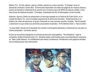 """Jayma y Dalex estrenan """"3 Amigas"""" juntó a Guelo Star"""
