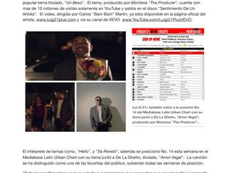 """Lui-G 21+ estrena video de """"Un Beso"""" por su canal de VEVO"""