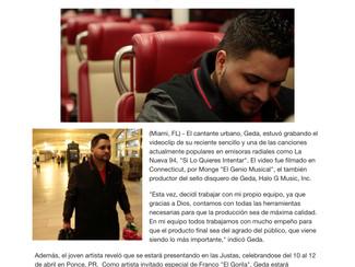 """Geda graba el video musical de """"Si Lo Quieres Intentar"""""""
