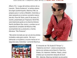 Maximus Wel regresa a Medellín para el primer concierto masivo del año: Flow Mi Tierra