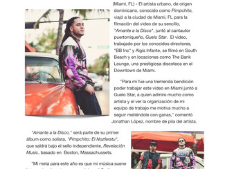 "Pimpchito viaja a Miami a grabar el videoclip de ""Amante a la Disco"" junto a Guelo Star"