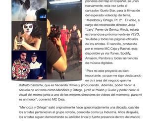 """MC Ceja, Polaco y Guelo Star graban video de """"Mendoza y Ortega Pt. 2″"""