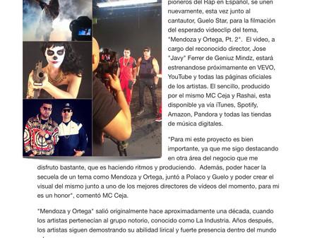 """MC Ceja, Polaco y Guelo Star graban el video de """"Mendoza y Ortega, Pt. 2"""""""