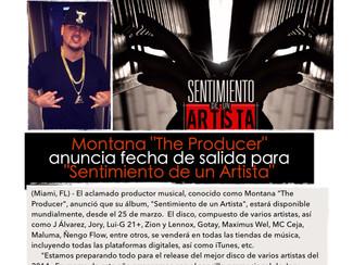"""Montana The Producer anuncia fecha de salida para """"Sentimiento de un Artista"""""""