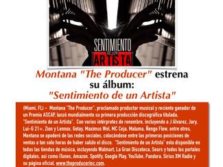 """Montana """"The Producer"""" estrena su album: """"Sentimiento de un Artista"""""""
