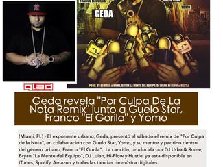 """Geda estrena """"Por Culpa De La Nota Remix"""" junto a Guelo Star, Yomo y Franco """"El Gorila"""""""