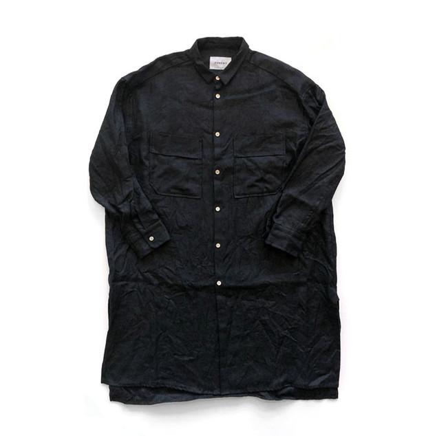 サフィランリネンツイル ロングオーバーシャツ