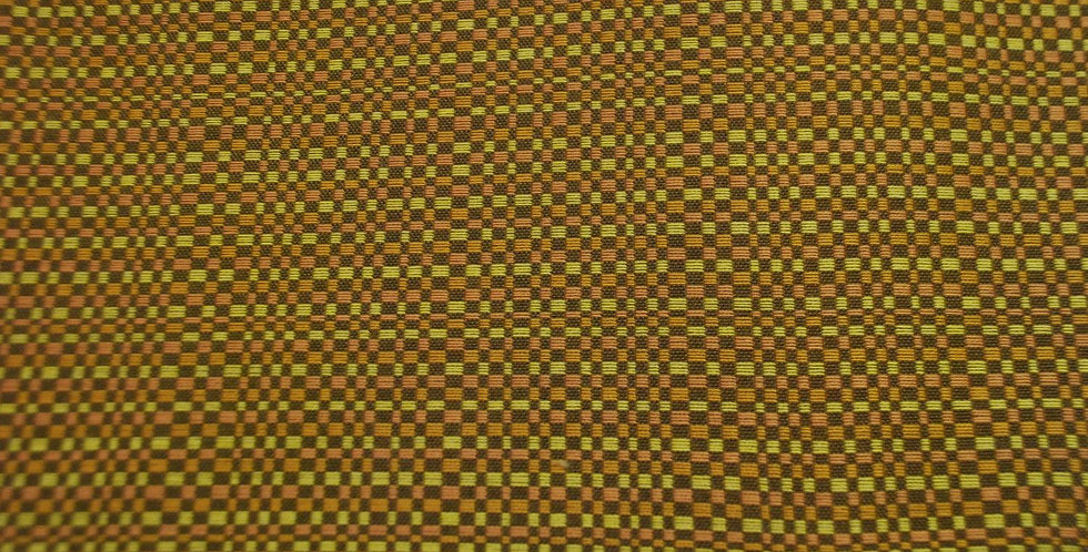 Orange, Yellow, Brown Woven Check Fabric