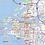 Thumbnail: Tampa Bay Area Laminated Wall Map