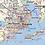 Thumbnail: Florida Panhandle Laminated Wall Map