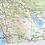 Thumbnail: California Laminated Wall Map