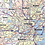 Thumbnail: Boston Metro Area Laminated Wall Map