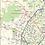 Thumbnail: San Antonio Area Laminated Wall Map