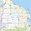 Thumbnail: Michigan Laminated Wall Map
