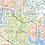 Thumbnail: Dallas - Fort Worth Metro Area Laminated Wall Map